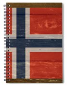 Norway National Flag On Wood Spiral Notebook