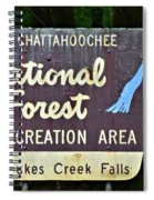 National Forest Recreation Area Spiral Notebook