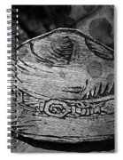 National Park Service Ranger Hat Black And White Spiral Notebook