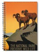 National Parks Preserve Wildlife Vintage Poster 1938 Spiral Notebook