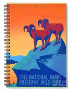 National Parks Wild Life Poster Spiral Notebook