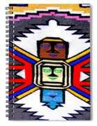 Native American Grey White Quilt Detail Spiral Notebook
