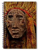 Native American In Wood 1886 Spiral Notebook
