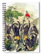 Native American Indian War Dance Spiral Notebook