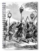 Native American Scalp Dance Spiral Notebook
