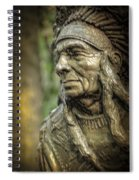 Native American Statue At Niagara Falls State Park Spiral Notebook