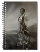 Native American Two Woman Bw Spiral Notebook
