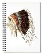 Native American War Bonnet - Plains Indians Spiral Notebook