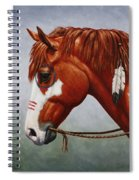 Native American War Horse Spiral Notebook