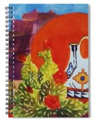 Native American Wedding Vase And Cactus Spiral Notebook