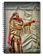 Native American With Blowgun Spiral Notebook
