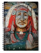 Native American Wood Carving Spiral Notebook