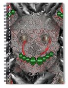 Native Indian Skull Art Spiral Notebook