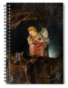 Nativity Angel  Spiral Notebook