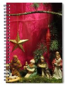 Nativity Scene In Red Spiral Notebook