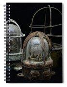 Natuical - Vintage Ship Deck Lights Spiral Notebook