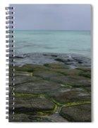 Natural Forming Pentagon Rock Formations Of Kumejima Okinawa Japan Spiral Notebook