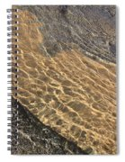 Nature Abstract - Clear Lake Tahoe Water  Spiral Notebook