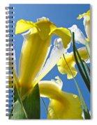 Nature Art Prints Yellow White Irises Flowers Spiral Notebook
