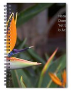Nature Does Not Hurry Bird Of Paradise Spiral Notebook