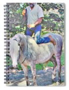 Nature Of The Beast- Enjoying His Paso Fino Stallion Spiral Notebook