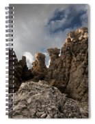 A Stunning Rock Wall Becomes A Wild Nature Sculpture In North Coast Of Minorca Europe Spiral Notebook