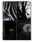 Nature Squares - Collage Spiral Notebook