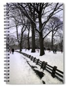 Nature's Canvas On A Wintry Day Spiral Notebook