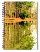 Nature's Green And Gold Spiral Notebook