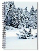 Natures Handywork - Snow Storm - Snow - Trees 2 Spiral Notebook