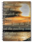 Natures Melody With Text Spiral Notebook