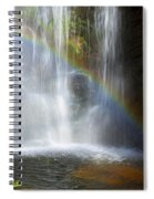 Natures Rainbow Falls Spiral Notebook