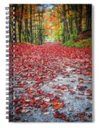 Nature's Red Carpet Spiral Notebook