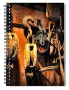 Nautical - Boat - Block And Tackle  Spiral Notebook