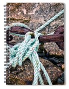 Nautical Lines And Rusty Chains Spiral Notebook