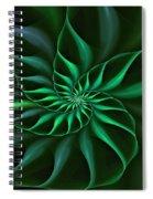 Nautilus Fractalus Verdant Green Spiral Notebook