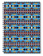 Navajo Blue Pattern Spiral Notebook