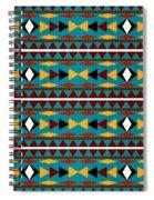Navajo Teal Pattern Spiral Notebook