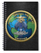 Naval Special Warfare Group Four - N S W G-4 - On Black Spiral Notebook