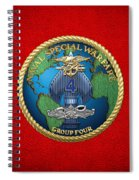 Naval Special Warfare Group Four - N S W G-4 - On Red Spiral Notebook