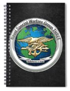 Naval Special Warfare Group Three - Nswg-3 - On Black Spiral Notebook