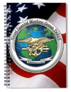 Naval Special Warfare Group Three - N S W G-3 - Over U. S. Flag Spiral Notebook