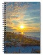 Navarre Beach Sunrise 2014 09 26 01 C 0650 Spiral Notebook