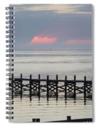 Navarre Beach Sunset Pier 17 Spiral Notebook