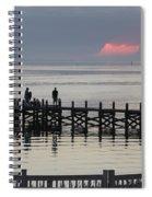 Navarre Beach Sunset Pier 18 Spiral Notebook
