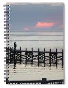 Navarre Beach Sunset Pier 21 Spiral Notebook