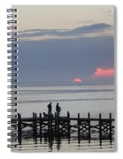 Navarre Beach Sunset Pier 22 Spiral Notebook