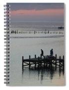 Navarre Beach Sunset Pier 30 Spiral Notebook