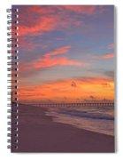 Navarre Pier And Navarre Beach Skyline At Twilight Spiral Notebook