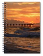 Navarre Pier At Sunrise With Waves Spiral Notebook